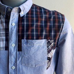 Blue Plaid Zoo York Button Down Shirt Sz M